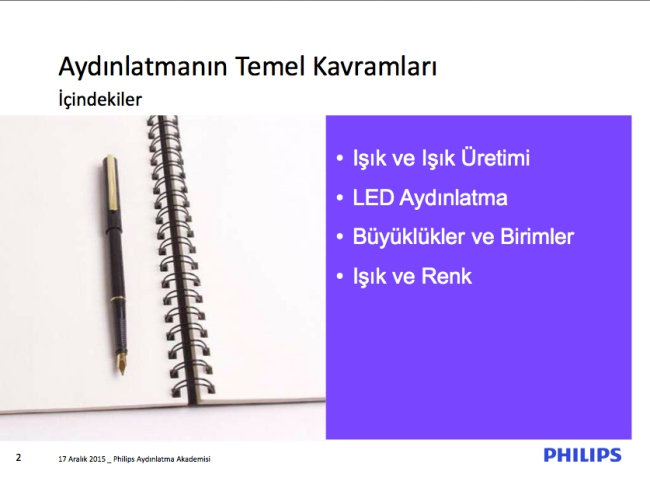 Philips aydinlatma akademisi