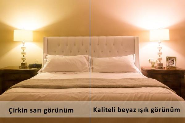 iyi isik ve yatak odasi
