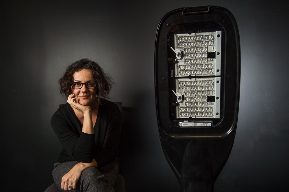 Dr. Gillian Isoardi, working on a trial of LED street lights, in Brisbane, Ipswich and Townsville.